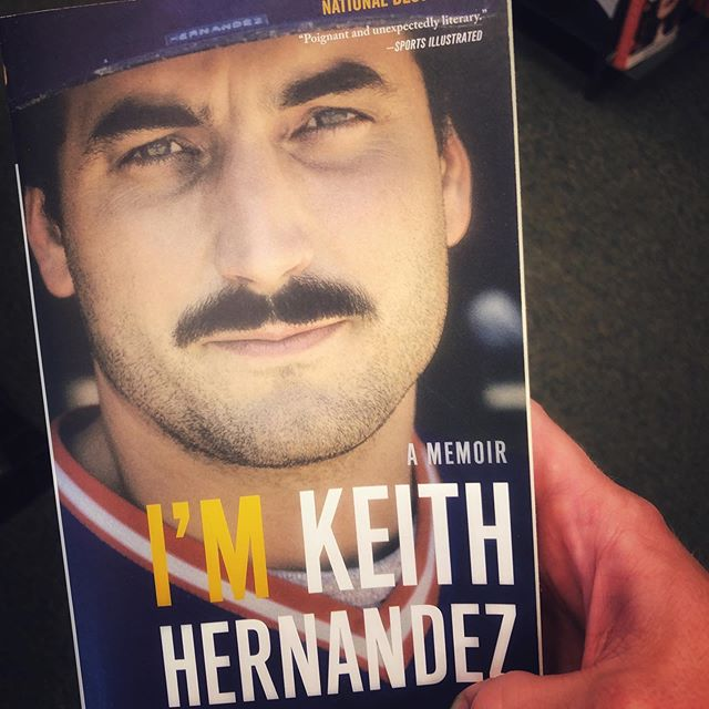 Dude rocks a mustache like this and you just know he can mash at the dish. #mets #keithhernandez #mlb #baseballbooks #cardinalnation⚾️