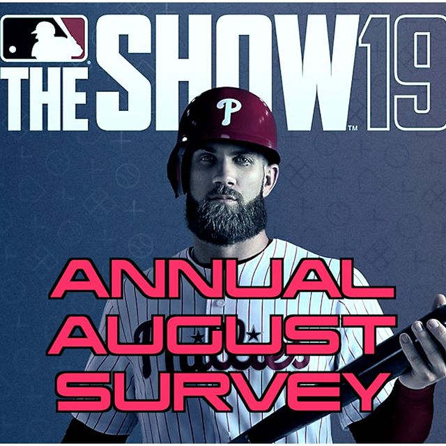 ANNUAL #mlbtheshow SURVEY! 100 questions. Results go to the devs. Get your voice heard. DIRECT LINK TO SURVEY IN BIO Gameplay. ESports. Communication. Community and more... #mlbtheshow19 #mlb #mlbtheshow18 #mlbtheshow17