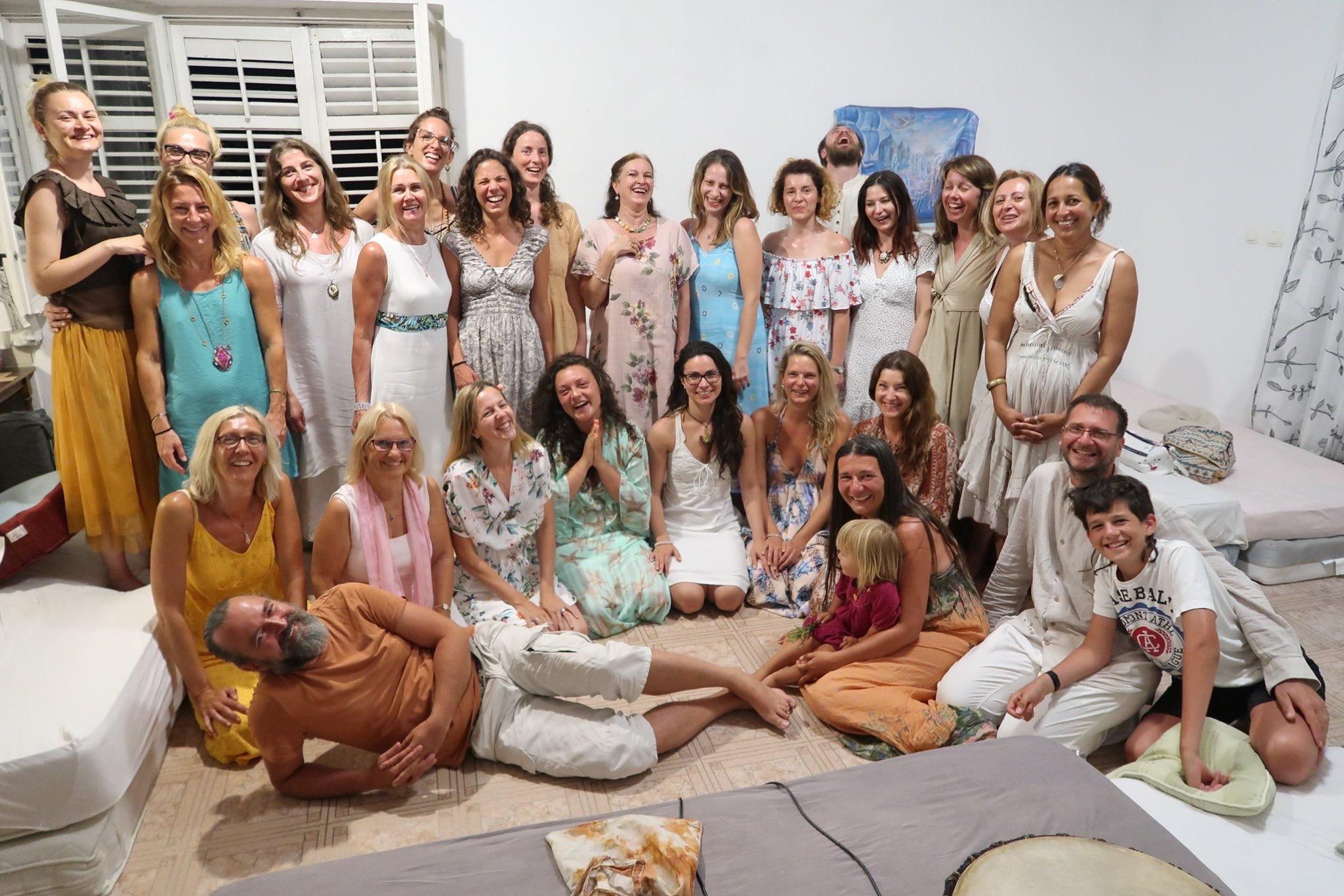 Advanced Shakti Meditation Retreat with Devi Ananda Vdovic and blissful yogi friends. Rab, Croatia 2019.
