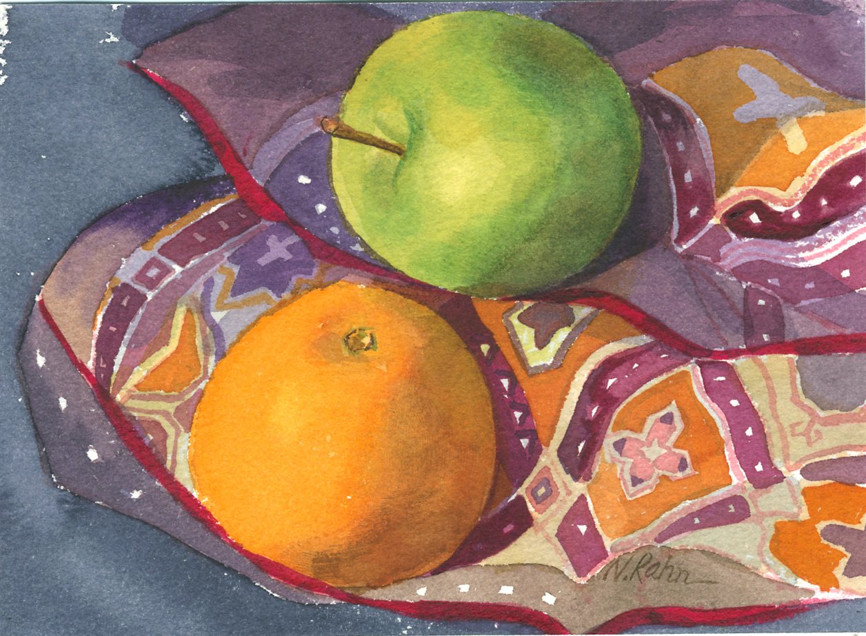 Fruit on Silk