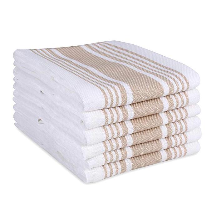 Beige Stripe Kitchen Towels