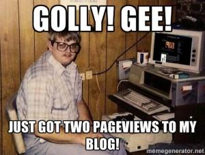 my blog isn't popular