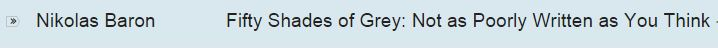 fifty shades of grey subject line email