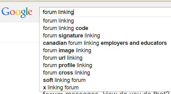 forum linking