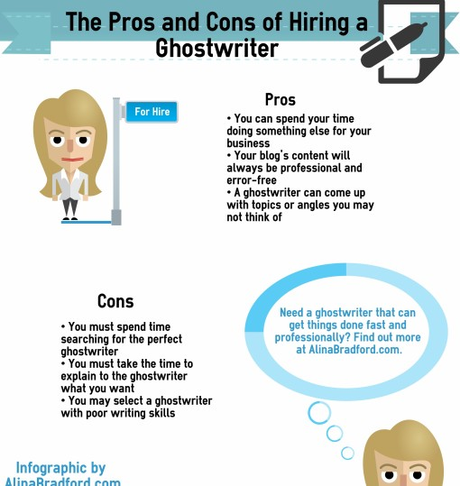 Pros and Cons of Hiring a Ghostwriter Infographic