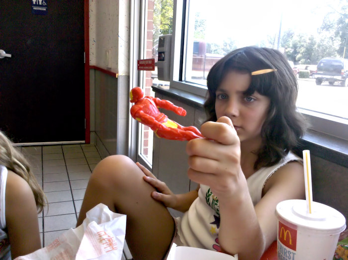 One of our trips to McDonalds.