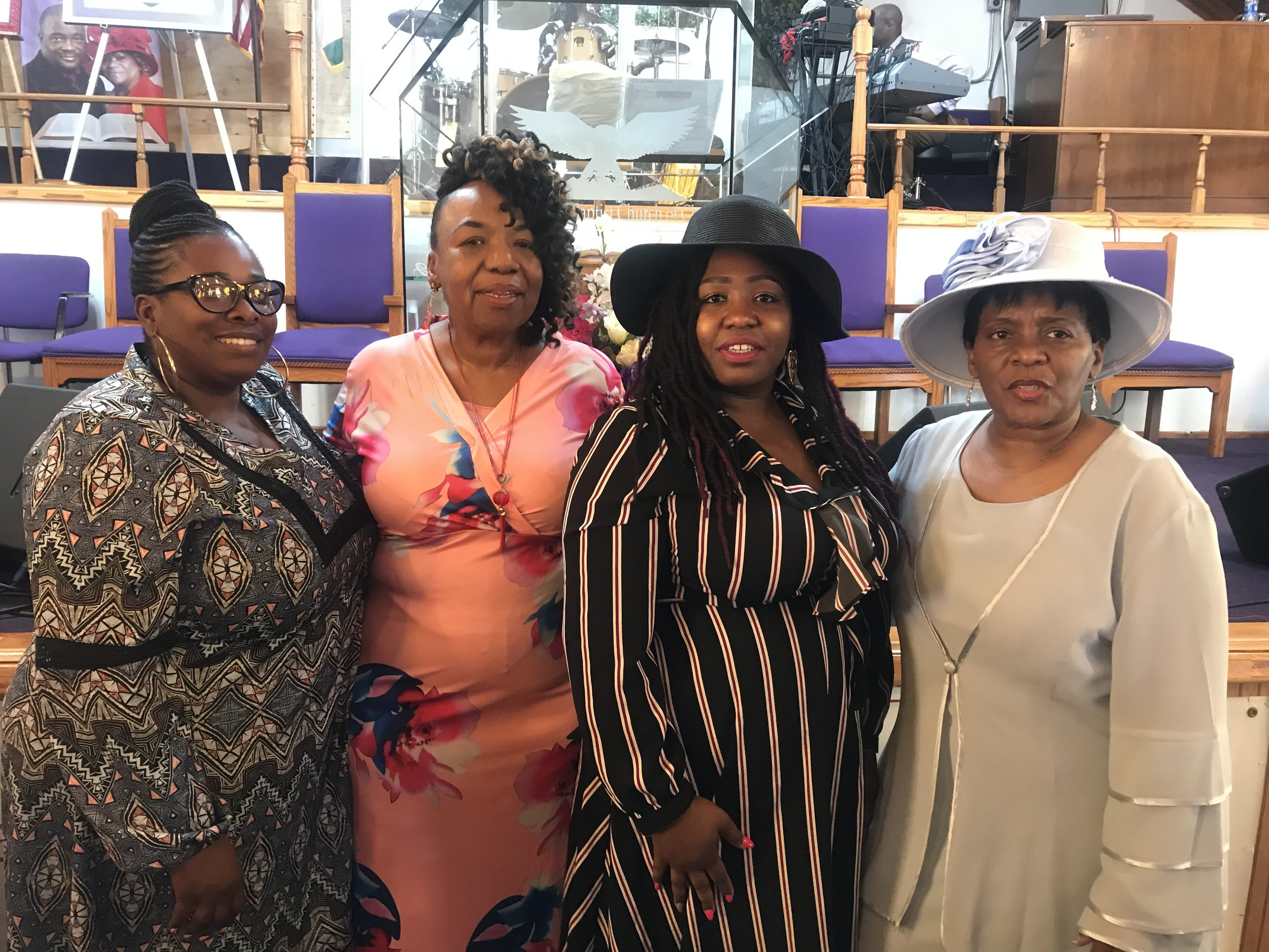 How will you ensure accountability for unjustified force if elected DA? Natasha Duncan, Gwen Carr, Victoria Davis, and Valerie Bell organize their communities to ask questions of local DA candidates, May 2019
