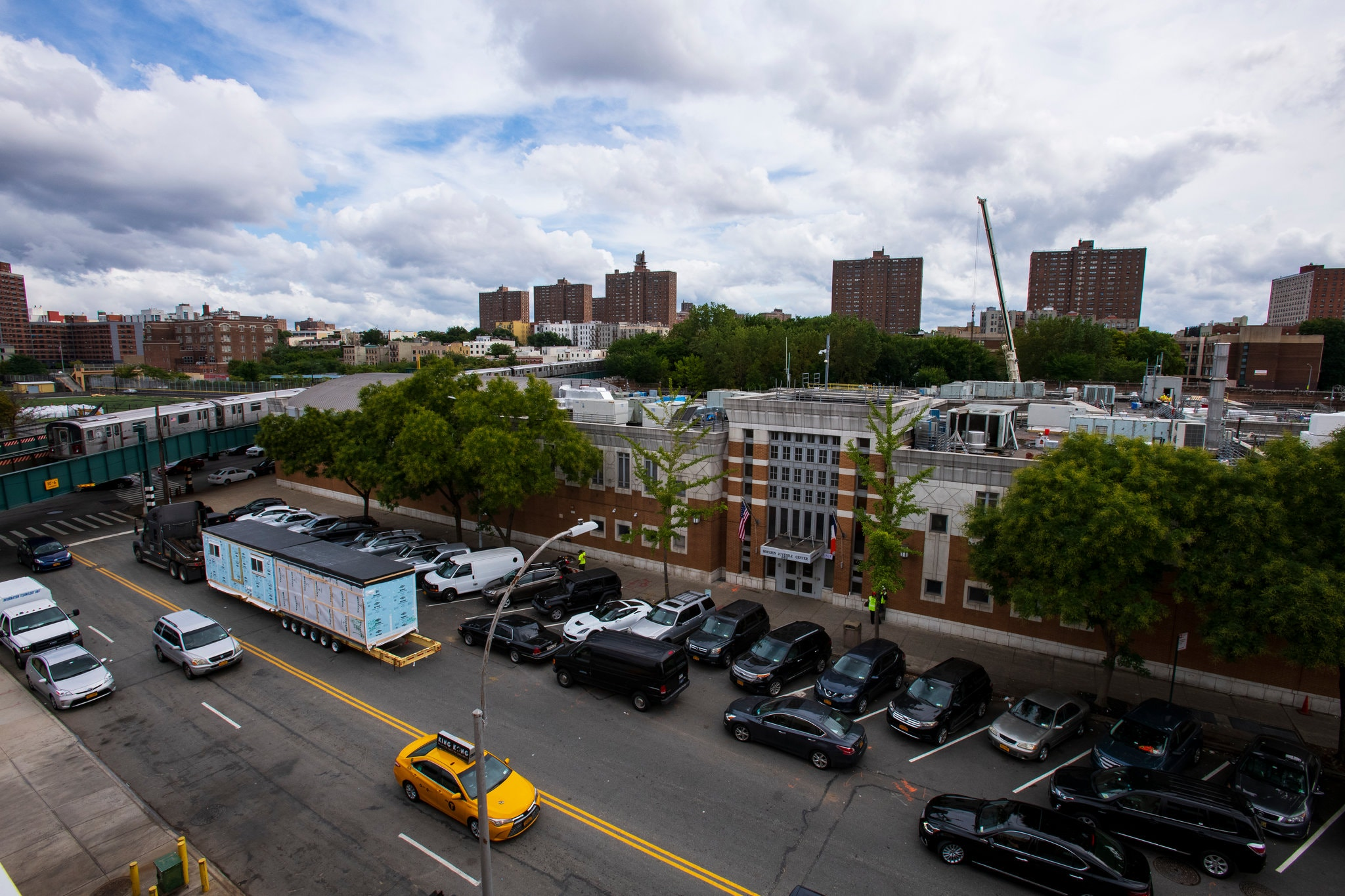 The Horizon Juvenile Center in the Bronx is being fortified before 16- and 17-year-old detainees from Rikers Island move in. Credit: Gregg Vigliotti for The New York Times