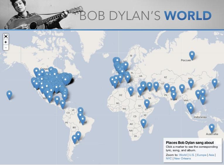 """Bob Dylan's World,""  Slate , May 24, 2013"