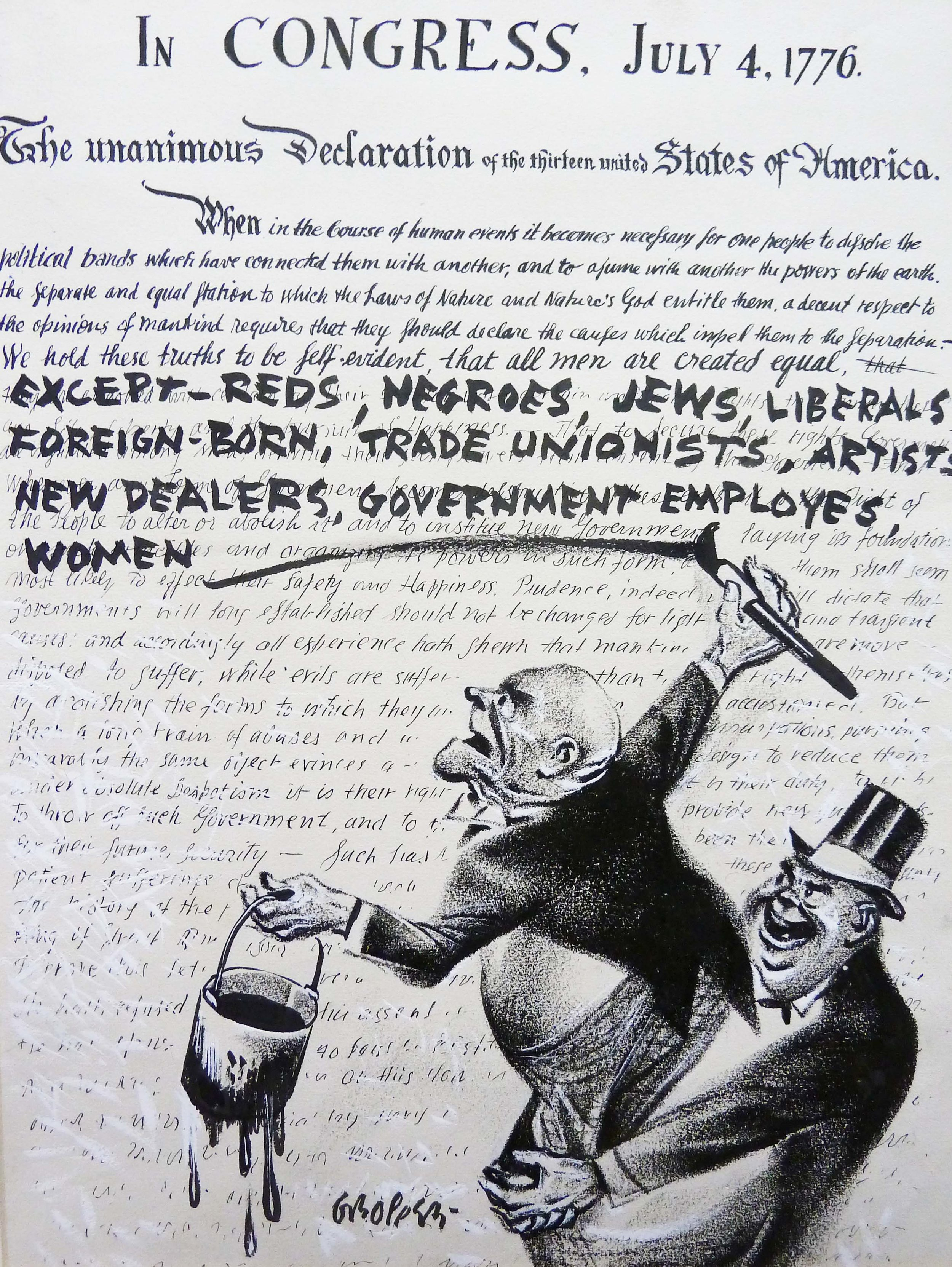 "Let's Not Forget the Socialism in the Resurrection of Socialist Art - The reputation of William Gropper, a radical and prophetic artist, once hounded out of work by the forces of reaction, is being restored at just the moment when the political faith he subscribed to has come back into vogue. Here, and not only here, it is watered down in the process. Asked how she went about presenting Gropper's radical politics in a way that would be accessible for a general audience, the exhibit's curator told me it required ""walking a fine line in terms of celebrating somebody who did cross all of the lines."" (The Nation)"