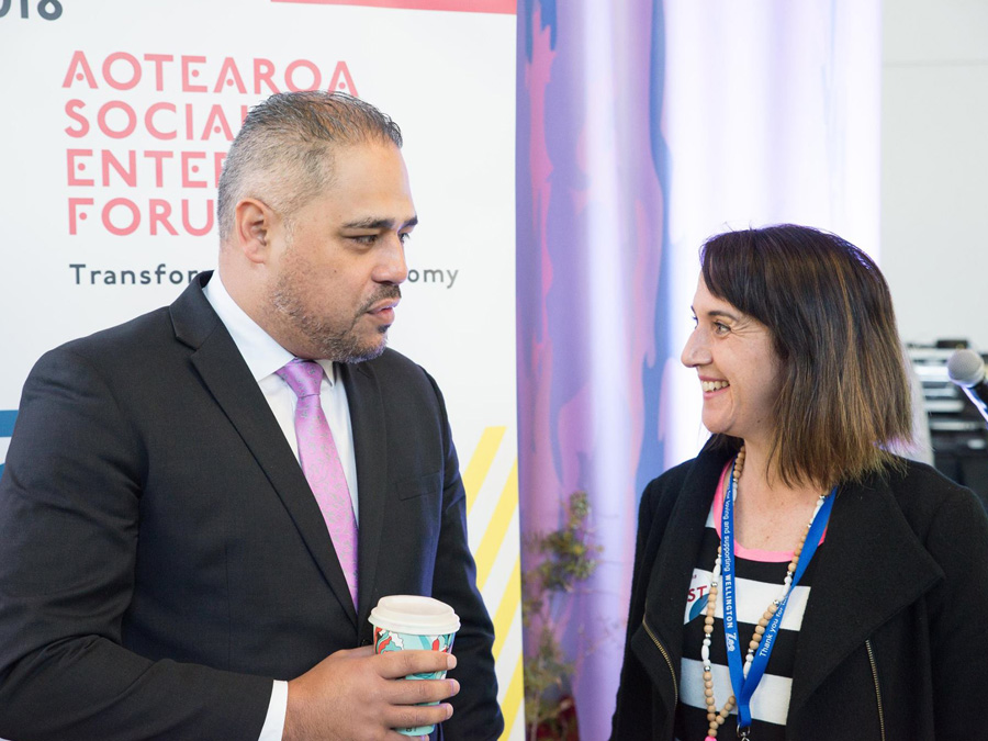Hon Peeni Henare, with Ākina General Manager of Operations Nicola Nation