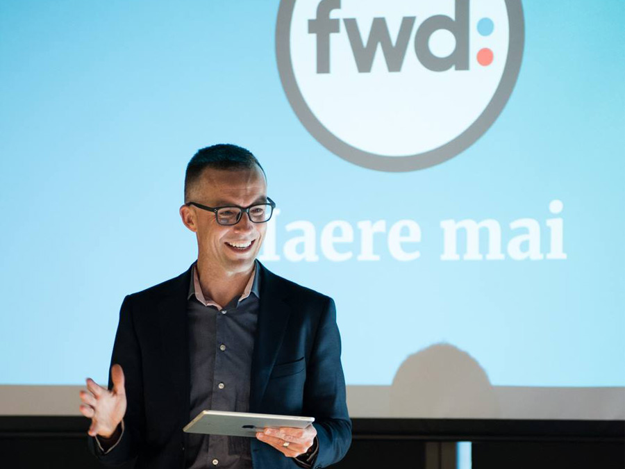 Dr Seán Barnes at the Launch of fwd: