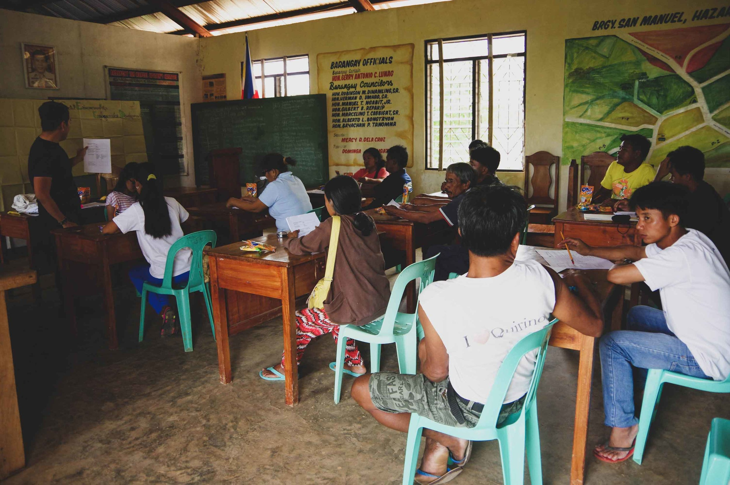 The Impact Hub awareness event at Brgy. San Manuel, Quirino Province.