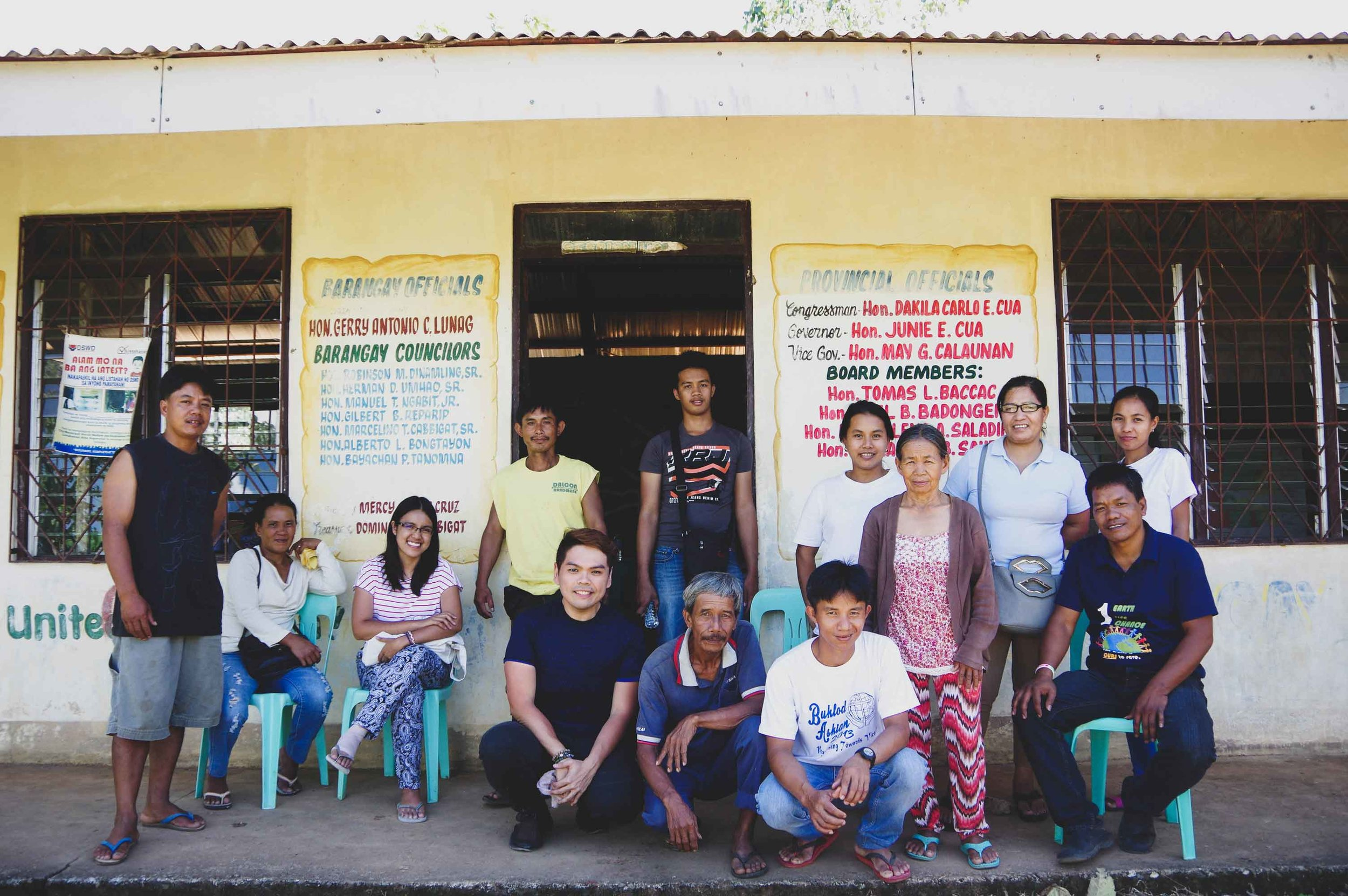 Photo taken with community members of Brgy. San Manuel, Quirino Province, after the Impact Hub awareness event.