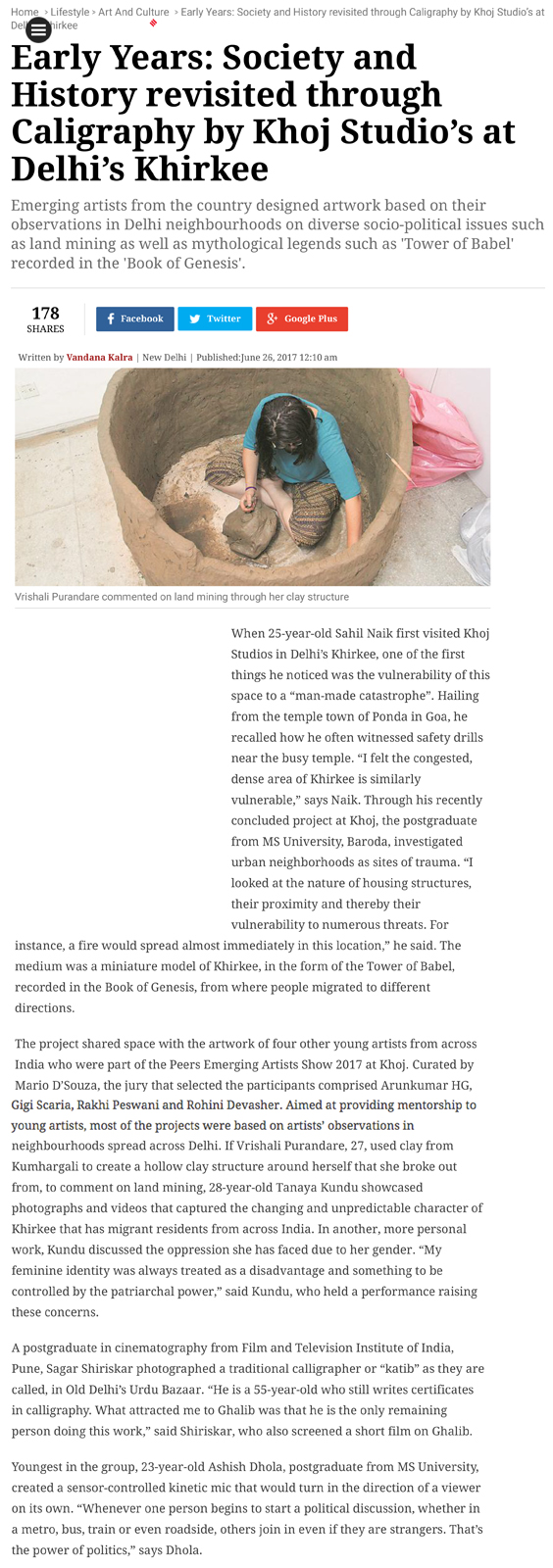 Khoj Residency Programme - Tearsheet - Article about the Group Show Exhibition - The Indian Express 2.jpg