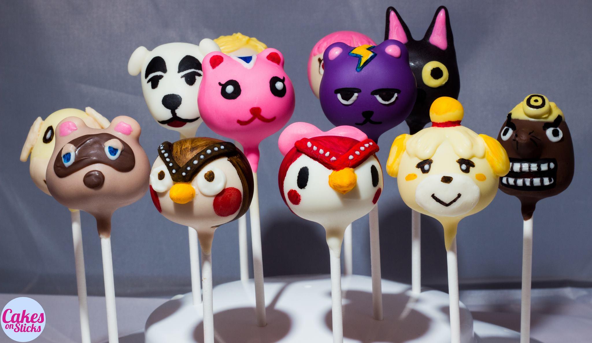 Animal Video Game Cake Pops