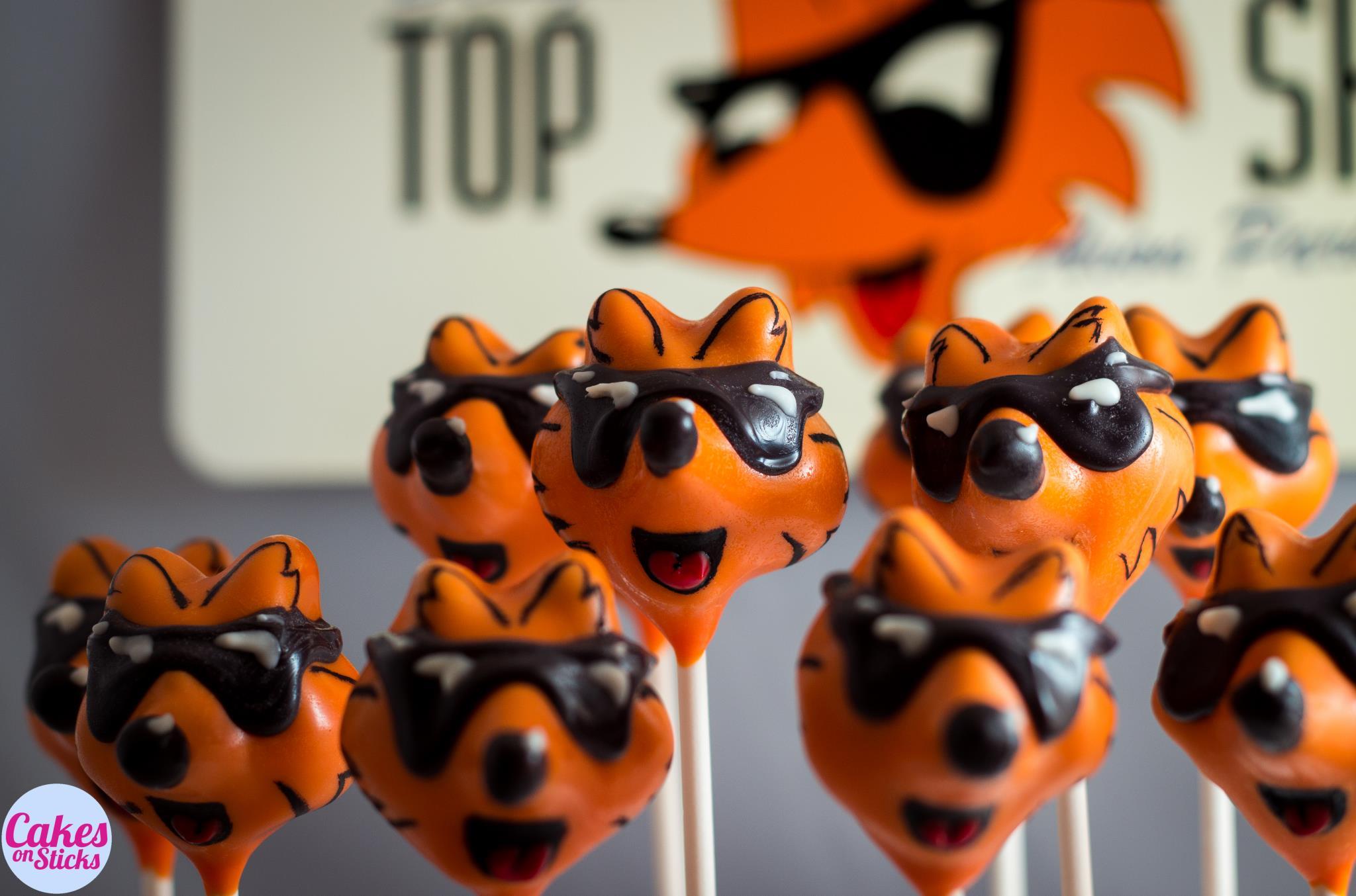 Custom Fox Cake Pops