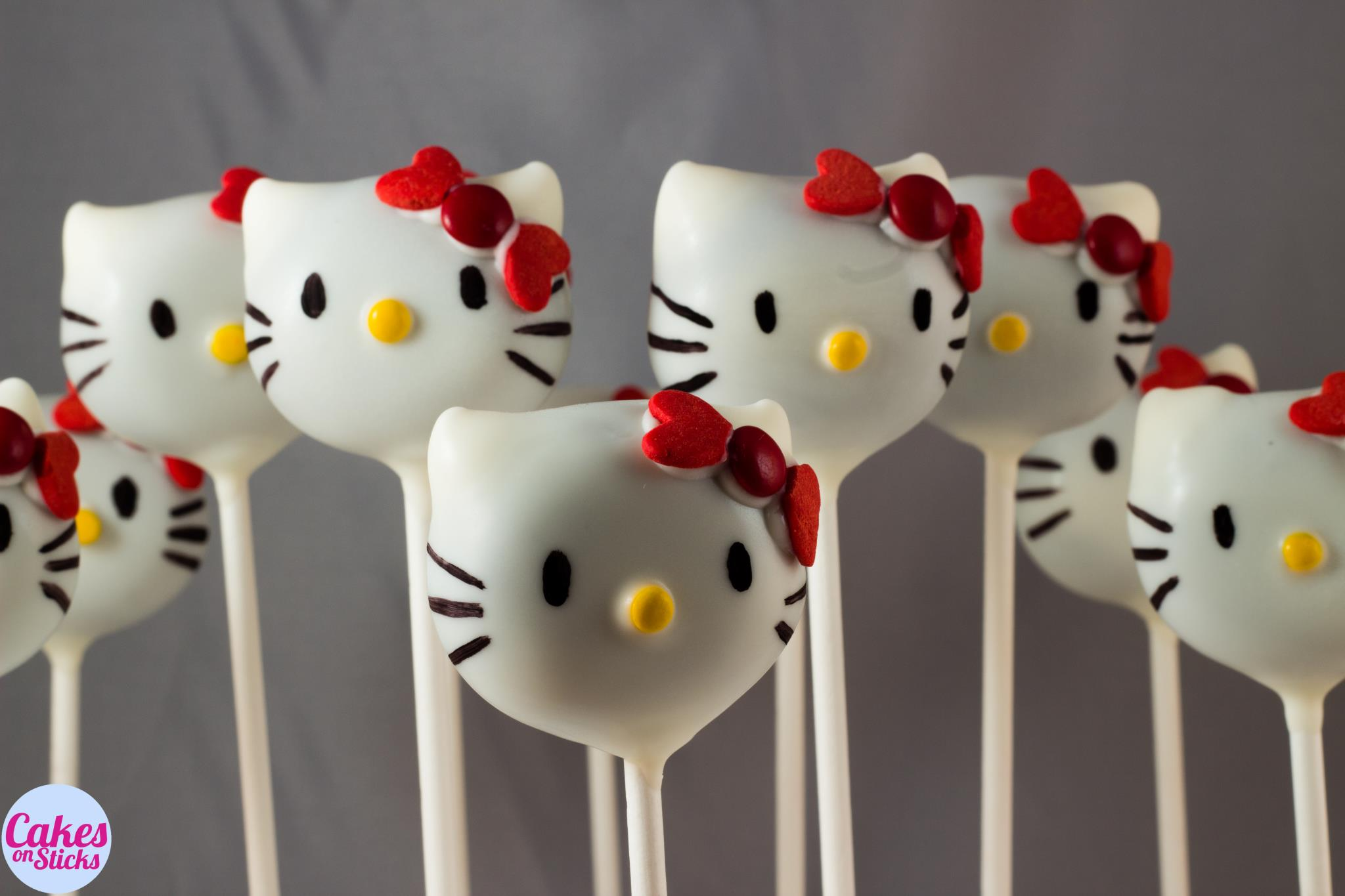 Hello Cat Cake Pops