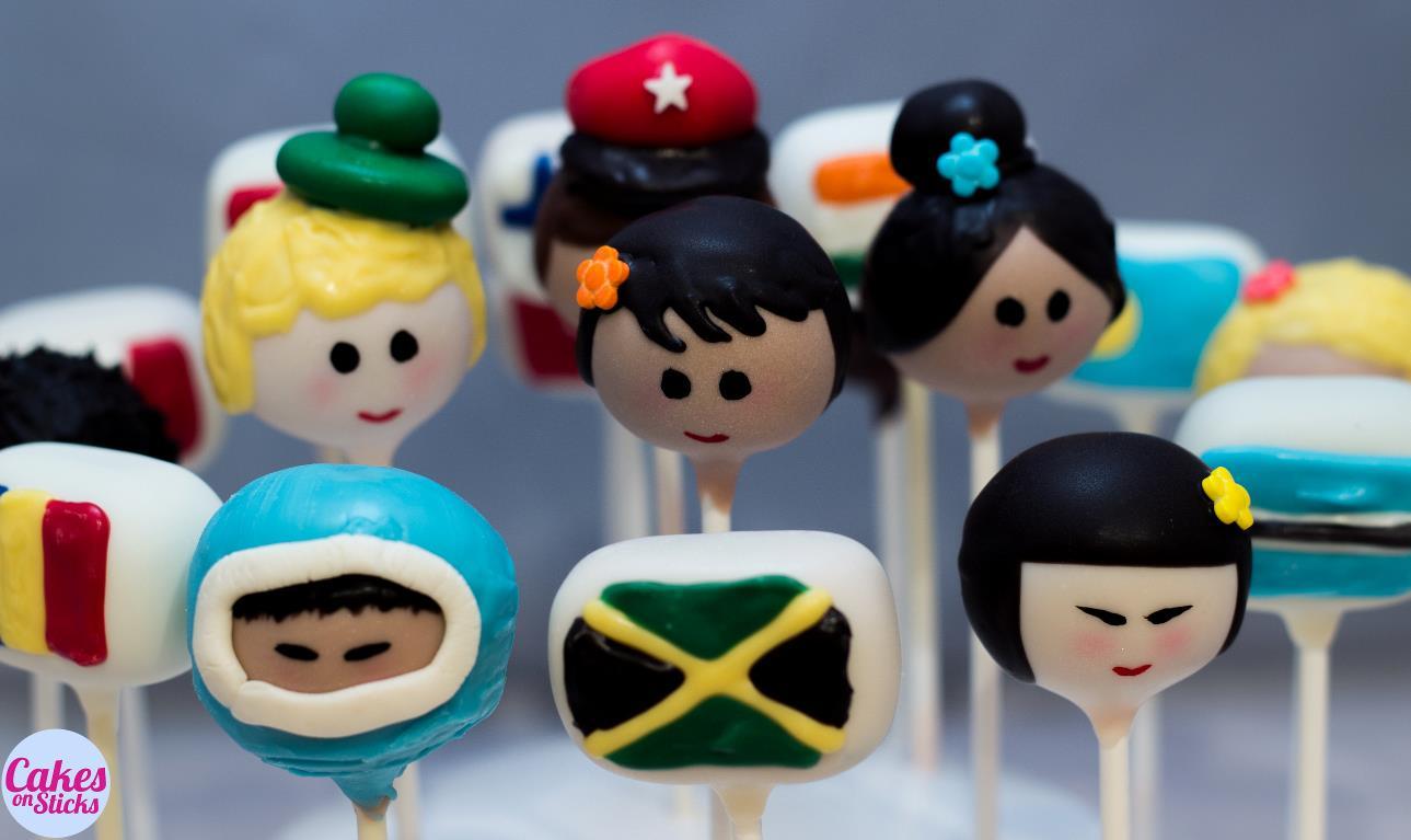 Around the World Cake Pops