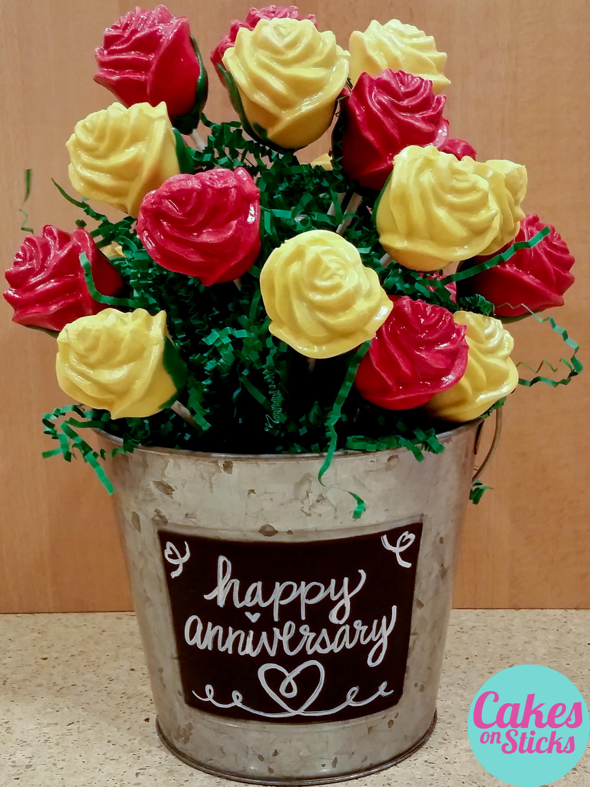 Rose Bouquet Cake Pops