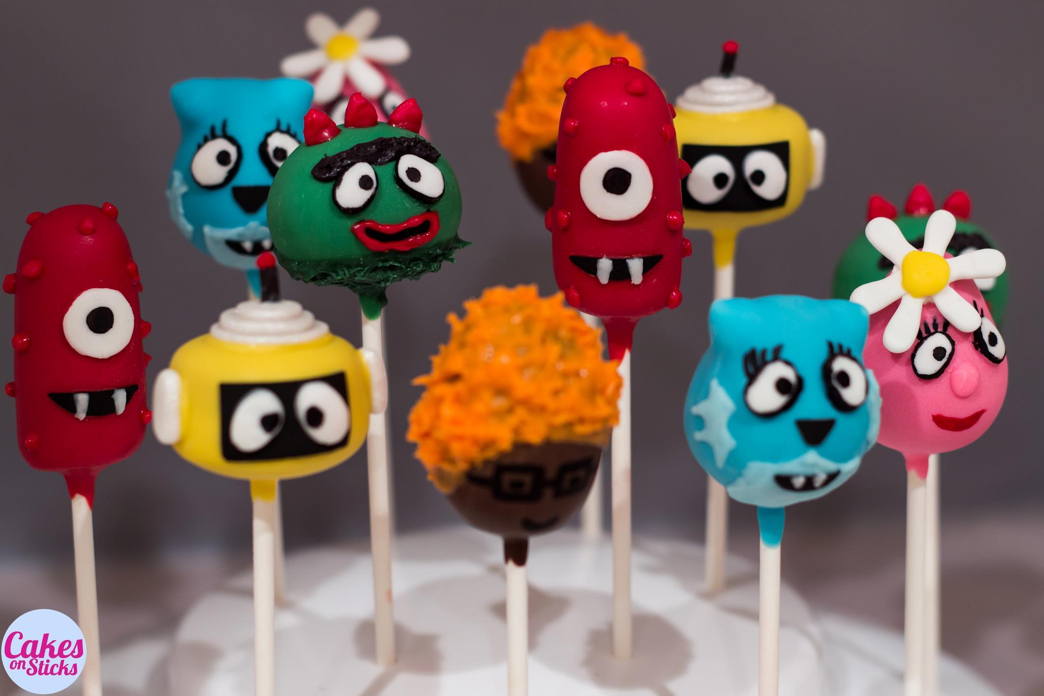 Friendly Monster Cake Pops