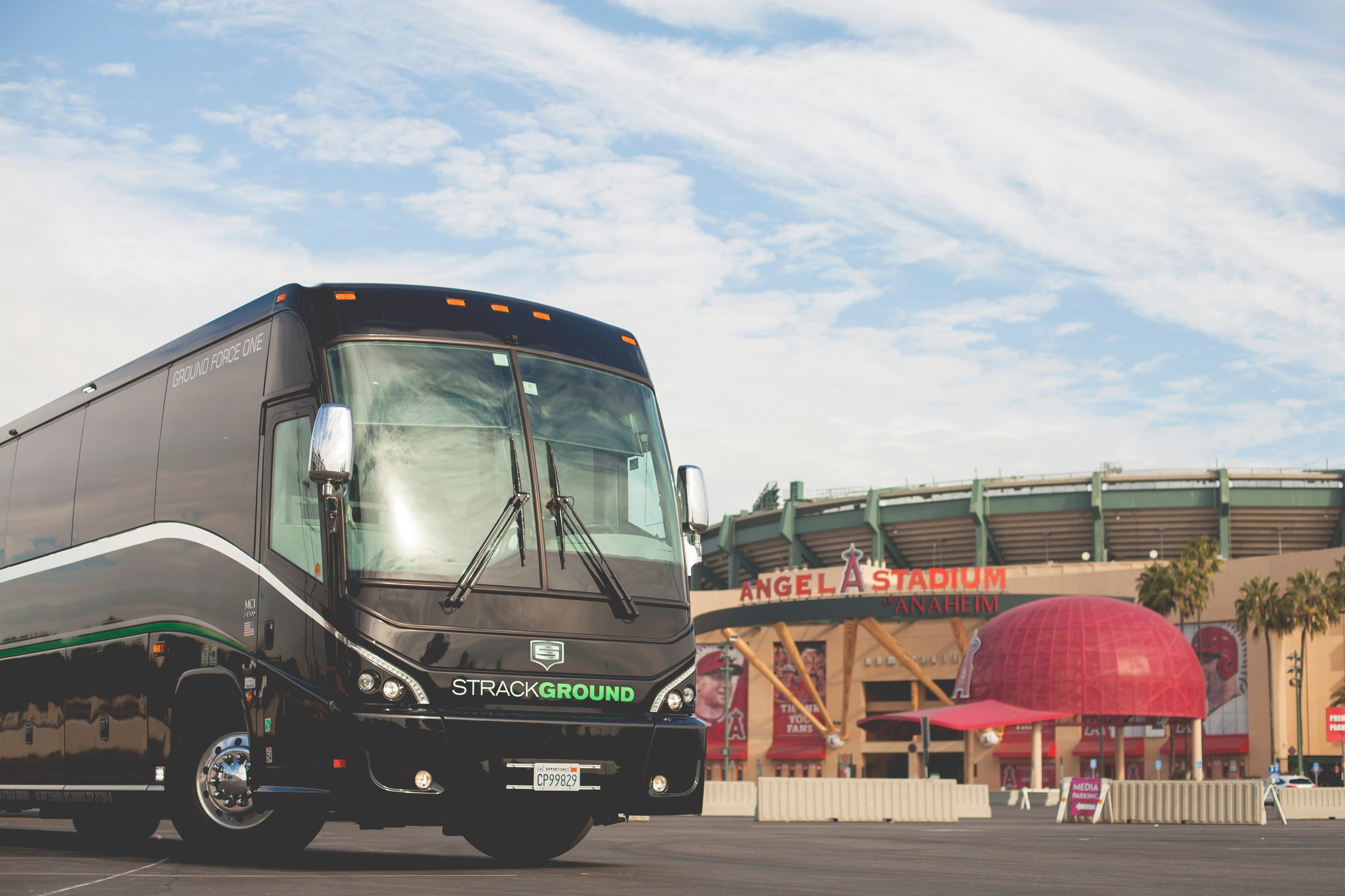 Motorcoach 56 - WiFi and DVD monitors. USB and HDMI ports. 110V/USB charging at each seat with overhead storage. Lavatory on board. Wood floors. Reclining captains chairs. Wireless PA system. Seating up to 56 passengers. Dedicated underbelly luggage for 56 passengers.