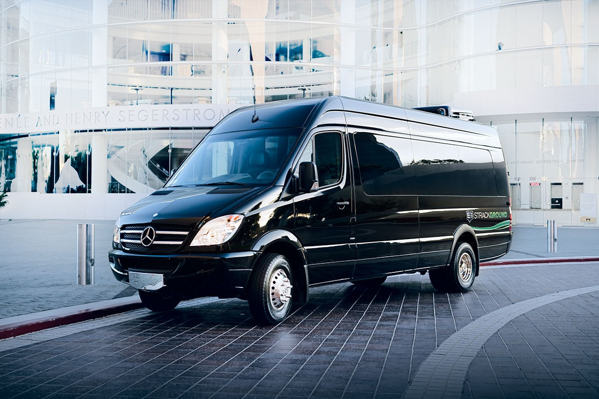 Mercedes sprinter - Complimentary water. WiFi and Apple TV available upon request. 110V/USB charging at each seat. Faux wood floors. Reclining captains chairs. Seating up to 13 passengers. Accommodates up to 10 pieces of luggage.