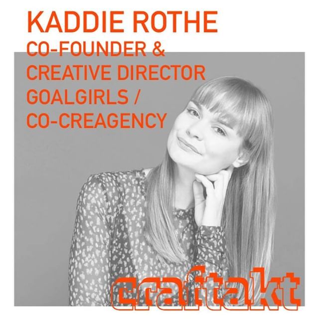 Book your free ticket now @ www.craftakt.de and meet Kaddie @craftakt conference @tatcraft. ⠀ ⠀ @kaddierothe is co-founder of @heygoalgirls and female creative force @cocreagency.berlin⠀ ⠀ .⠀ #craftakt #tatcraft #maker #frankfurt #ffm #conference #events #design #event #business #inspiration #entrepreneur #venue #tech #startup #maker #makersgonnamake #makersmovement #creative #success #motivation #entrepreneurship #hustle #entrepreneurlife #lifestyle #businessman #mindset #successful #startuplife⠀