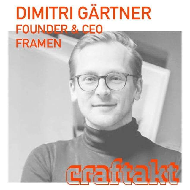 Book your free ticket now @ www.craftakt.de and meet Dimitri @craftakt conference @tatcraft ⠀ Dimitri is founder and & CEO of @framen.io . Dimi is a full-on entrepreneur since his university days. After graduating he went into banking and worked on large digitalization projects. Feeling the entrepreneurs urge he quitted banking, spent months in his garage, prototyped the shit out of picture frames, digitalized picture frames and founded FRAMEN in 2018. Great pleasure to have Dimi with us! ⠀ .⠀ #craftakt #tatcraft #maker #frankfurt #ffm #conference  #events #design #event #business #inspiration #entrepreneur #venue #tech #startup #maker  #makersgonnamake #makersmovement #creative #success #motivation #entrepreneurship #hustle #entrepreneurlife #lifestyle #businessman #mindset #successful #startuplife⠀