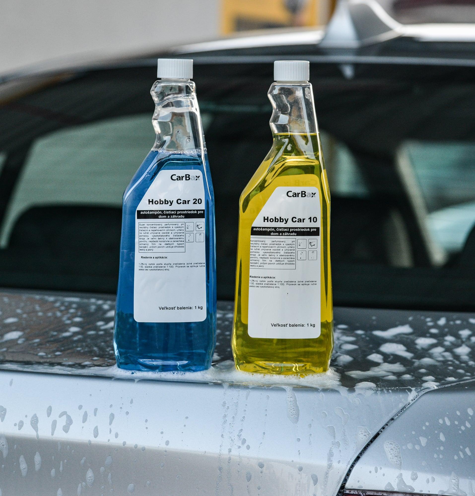 Hobby Car - Hobby Car 10 a Hobby Car 20 z rady Star Line predstavujú koncentrované parfumované čistiace prostriedoky s vysokým napeňovacím a čistiacim účinkom. Sú určený na umývanie karosérie ručne, alebo pomocou vysokotlakového stroja. Svojimi vlastnosťami sú veľmi šetrné k povrchu karosérie, nepôsobia korozívne a vytvárajú ochranný film, ktorý udržuje povrch dlhodobo lesklý a jasný.