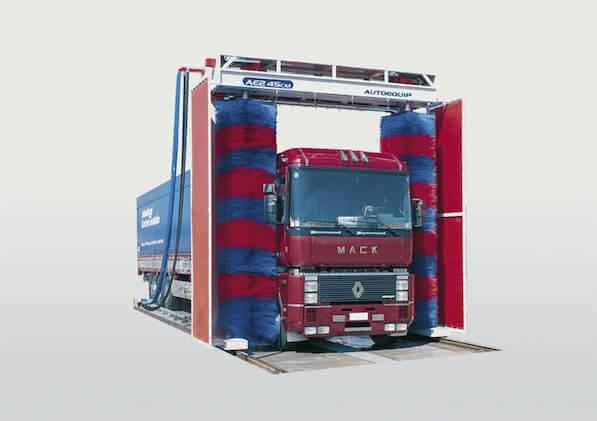 umývacia linka pre nákladné vozidlá -