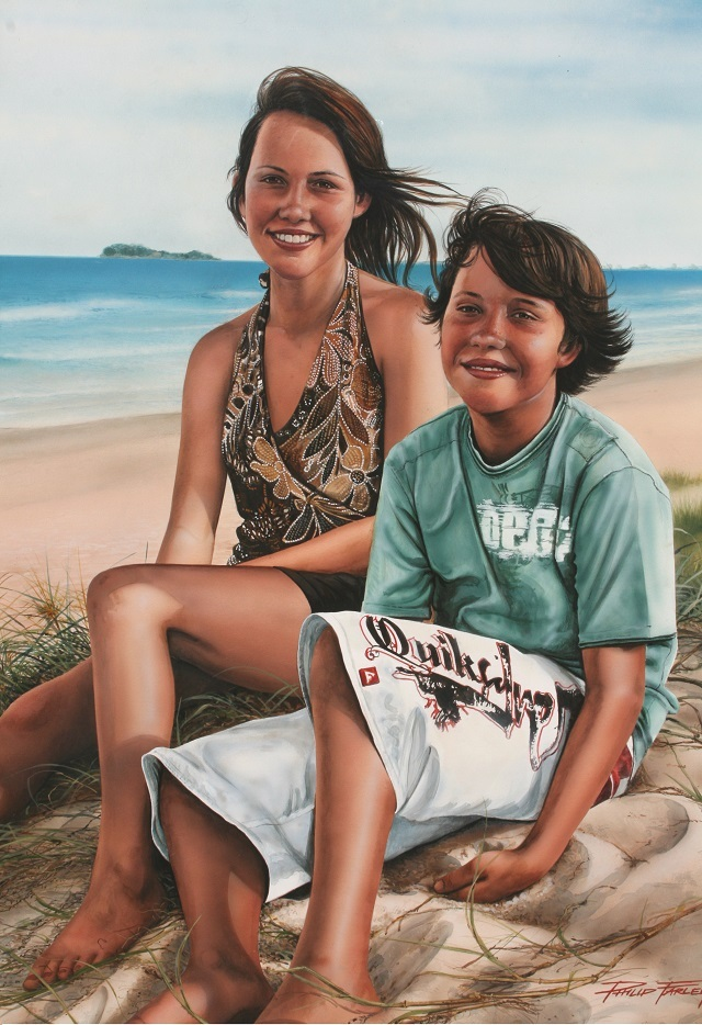 "Portrait Testimonial - ""It's been several years now since Philip painted this amazing portrait of our children. It's a daily reminder to us of just how much they have grown and changed.Philip has captured in detail not only their appearance but their very character and personalities.Every time we look at the painting it reminds us that the young adults they have now become, were once these spirited, precocious, delightful, mischievous and very precious children.""Craig & Libby – Marcoola"