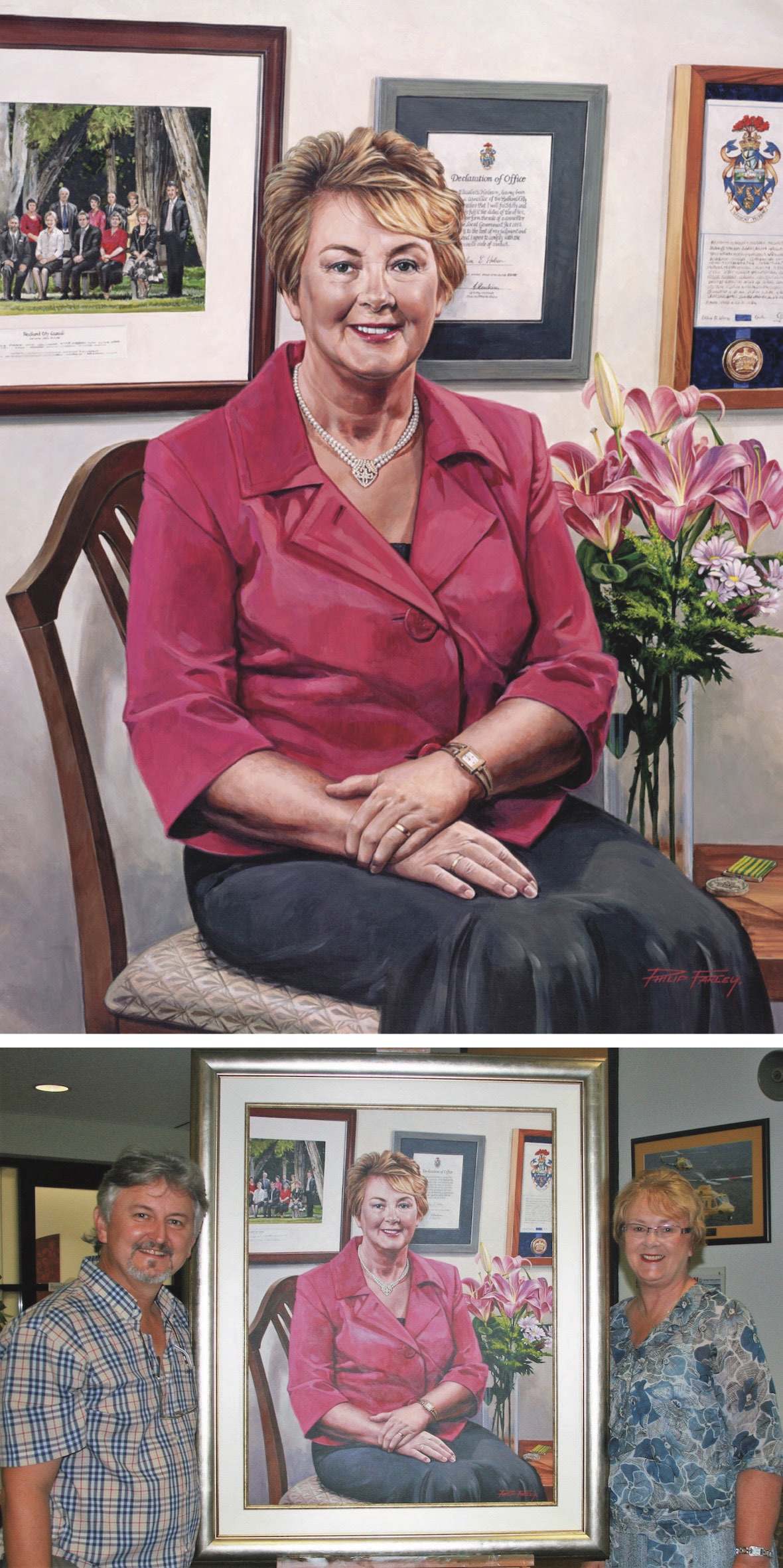 "Portrait Testimonial - ""Working with Phillip on my portrait was a very pleasant experience. He was very accommodating of my hectic schedule, listened to my comments, was very professional and easy to work with.I was delighted with the result.He is an excellent artist and I would recommend him to anyone looking for a quality work.""Melva Hobson PSM, Mayor Redland City 2008-2012."