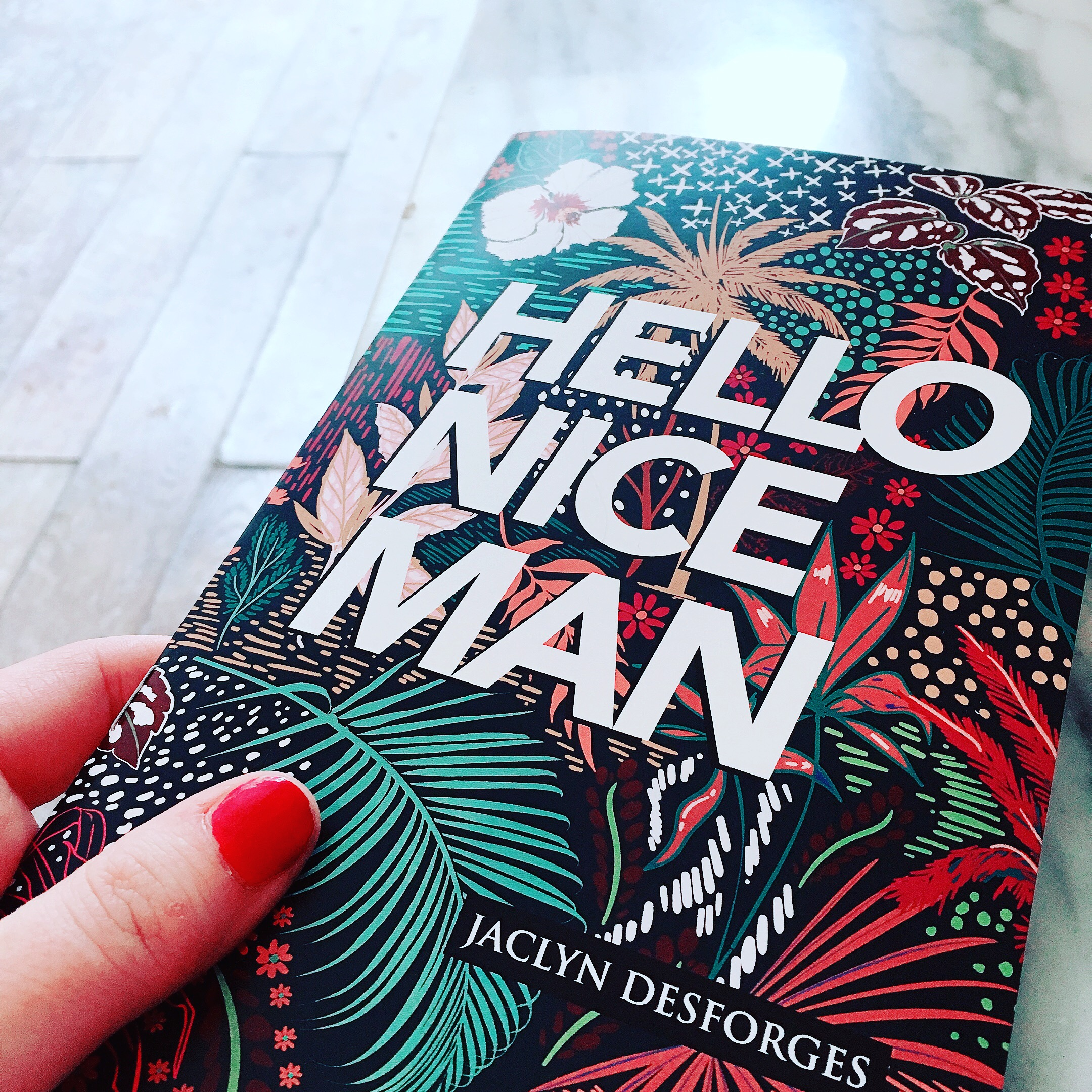 Hello Nice Man is a poetry chapbook published by Anstruther Press. It's currently in its fourth printing. You can  buy a copy online here . IRL, you can find it at  King West Books  or  The Printed Word  in Hamilton, or in Toronto at  Knife Fork Book .