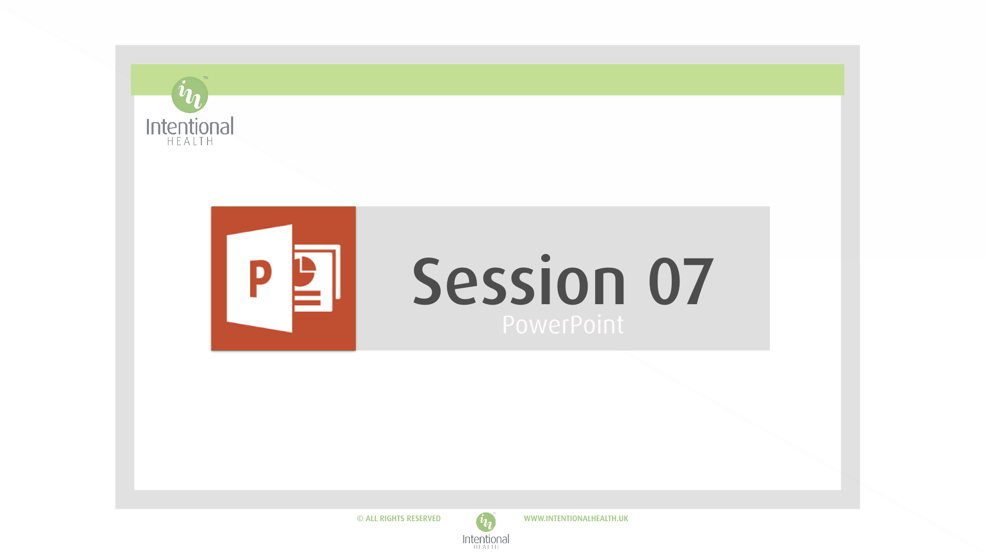 Session 07 Powerpoint