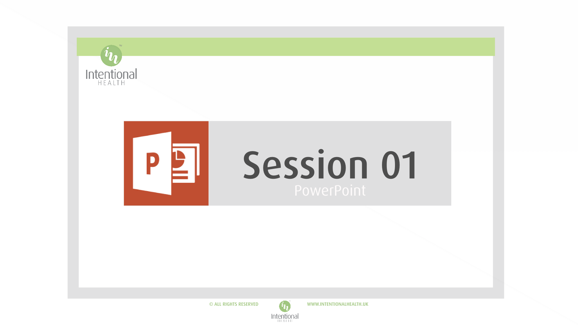 Session 01 Powerpoint