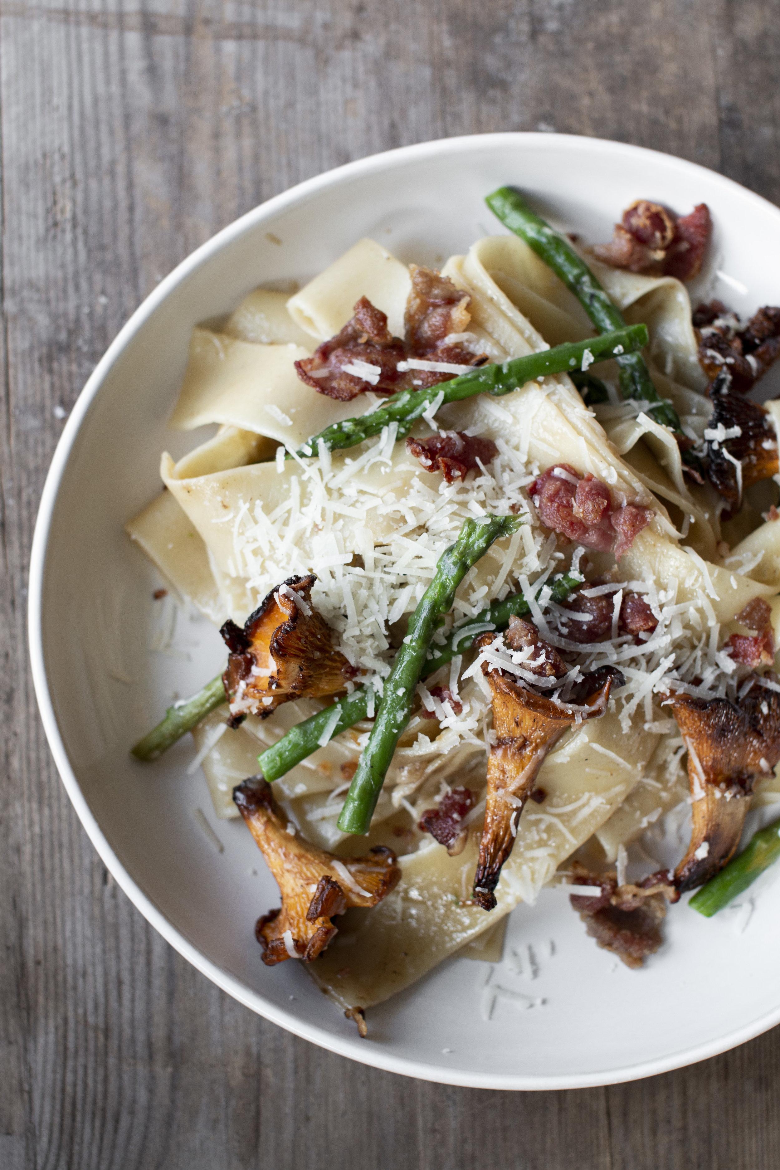 pasta med bacon, asparges og kantarell_1.jpg