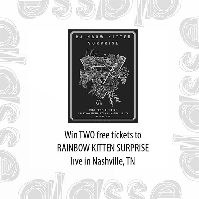 Rainbow Kitten Surprise is hosting a small show in efforts of raising money for some of their dear friends whom recently faced some misfortune. We are giving two tickets away to the show! To enter: 1. MUST be following @glassefactory to win  2. Like and save this post 3. Tag a friend in the comments 4. Unlimited entries, so tag as many friends as you would like!  Winner will be announced April 17th at noon! Best of luck! 🧡 (show is 21+)