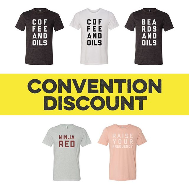 Discount time! 💥 If you are going to the Young Living Convention in Salt Lake City next week, we have a great deal for you. Order any of our tees and use the code YLCONVENTION2019 at checkout to get free shipping and we will set a time and place for you to pick up your shirts in person from us at convention. It's a great way to save some money and gives us the opportunity to meet you in person. Can't wait to see you at convention and see all of you in your tees!  This promo is ONLY for people who will be at convention next week. 🙏🏻❤️ Link in bio.