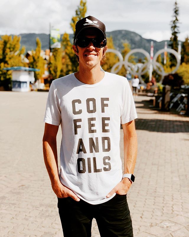 Love seeing my best bud rockin' his Coffee + Oils tee! He also happens to own @threadbird, our printing company. Hope to see you all in your tees at the @youngliving convention this week!