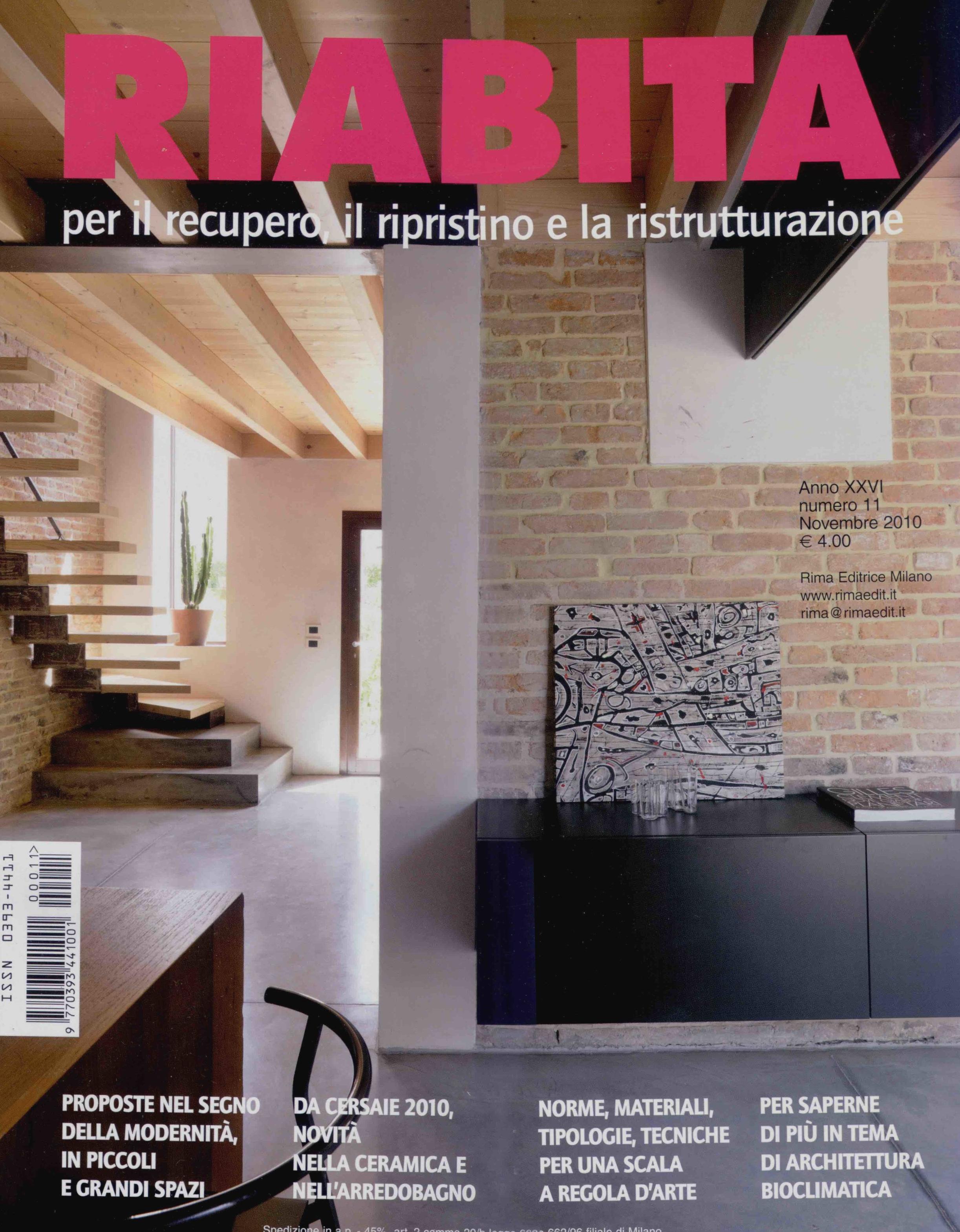 Riabita n.11 anno XXVI, novembre 2010, pp.34-42 e copertina