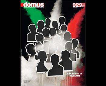 Mappa delle architetture italiane allegata a Domus n°929/Ottobre 2009, sezione Veneto