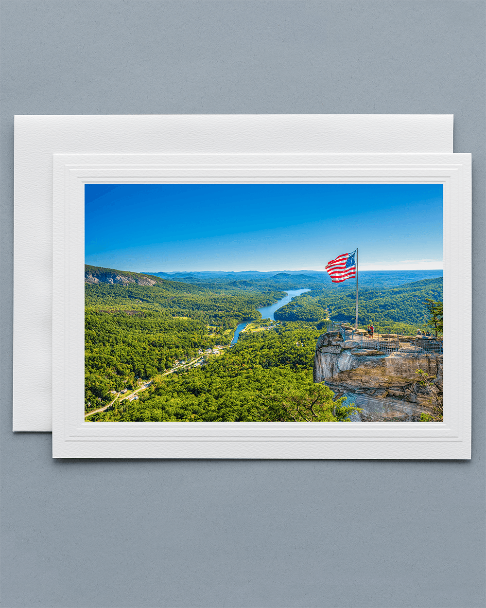 Send a lovely Greeting Card with a real photograph of Chimney Rock - All Greeting Cards are handmade by us in the U.S.A.