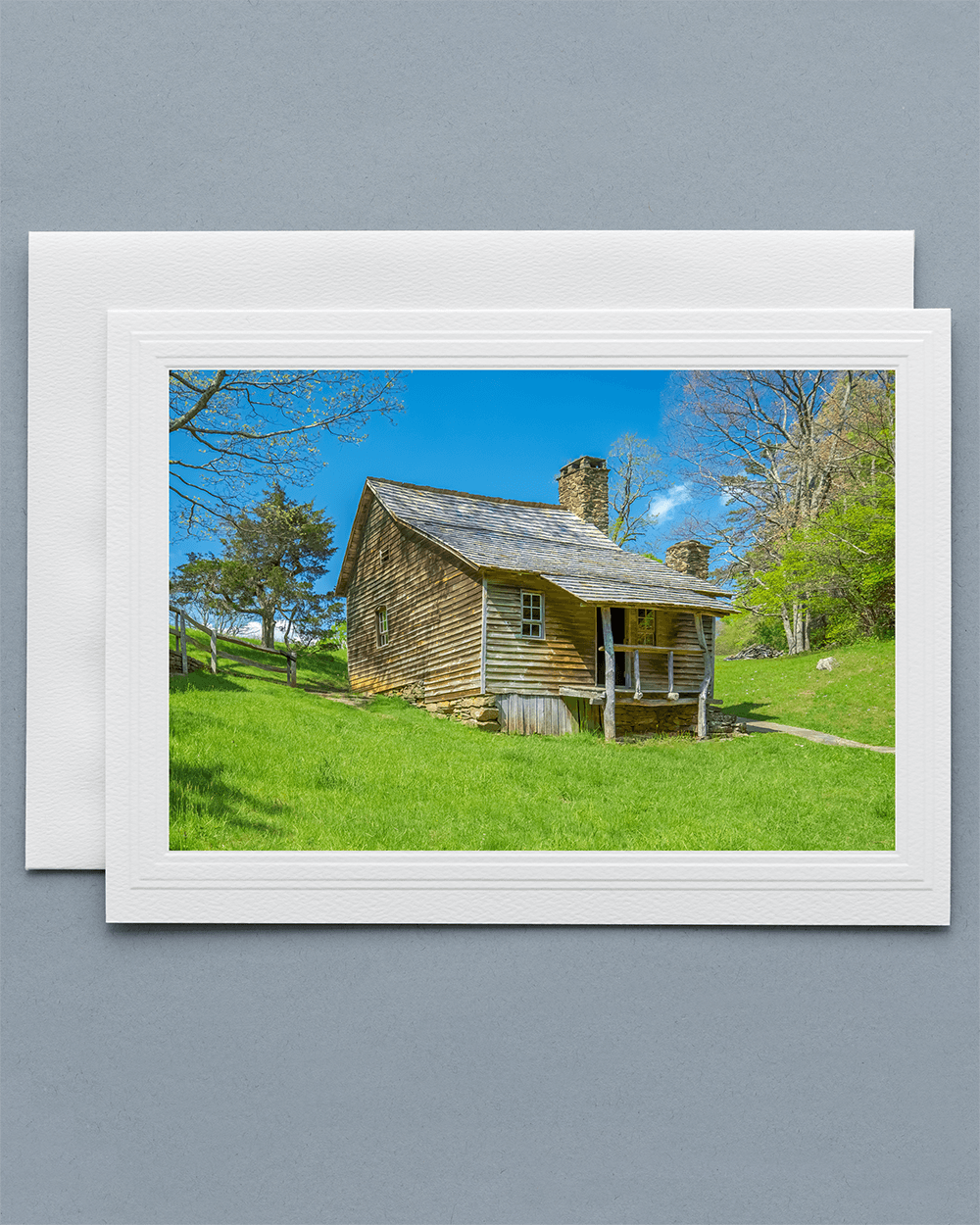 Send a lovely Greeting Card with a real photograph of the Brinegar Cabin - All Greeting Cards are handmade by us in the U.S.A.