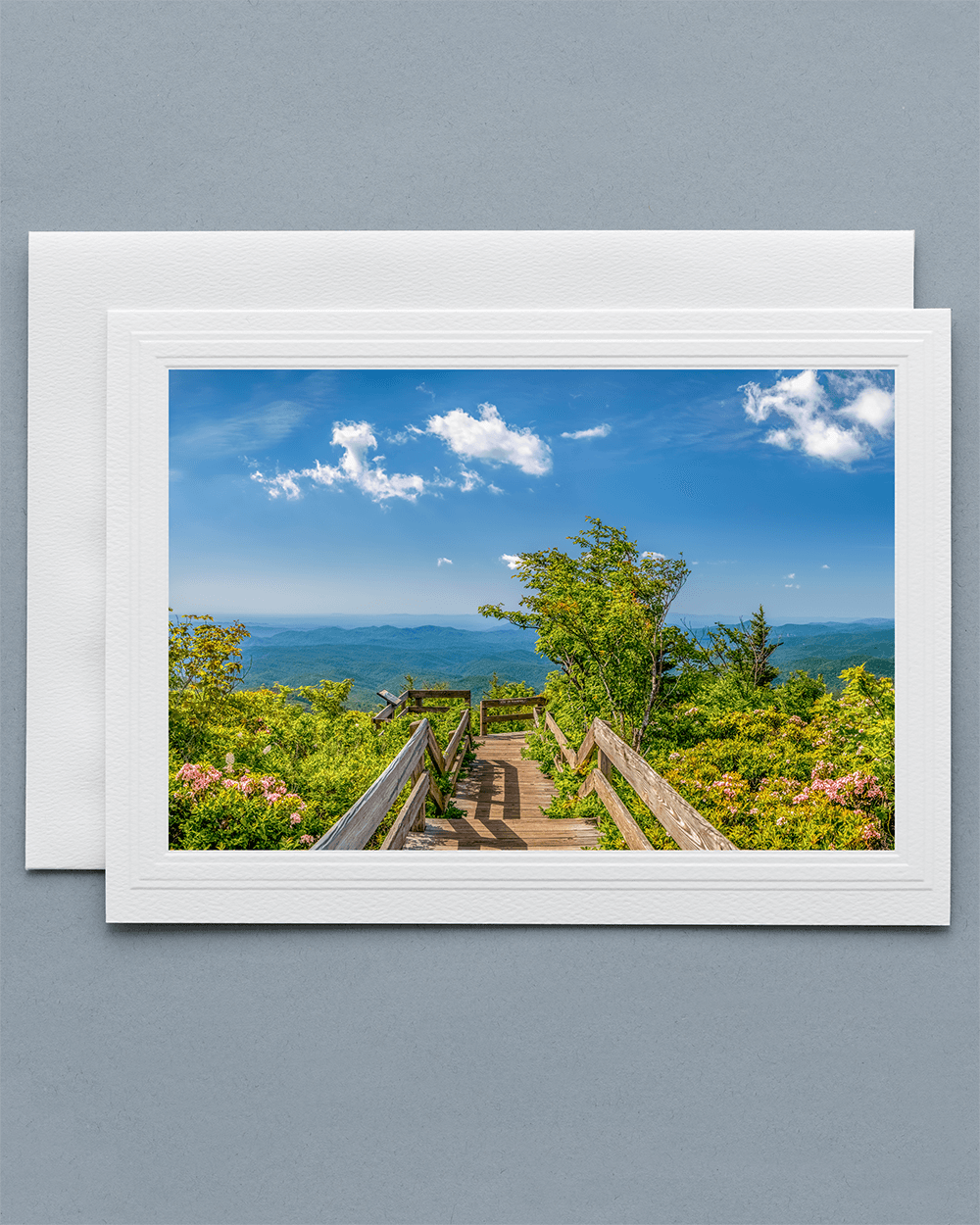 Send a lovely Greeting Card with a real photograph of the Rough Ridge Overlook - All Greeting Cards are handmade by us in the U.S.A.