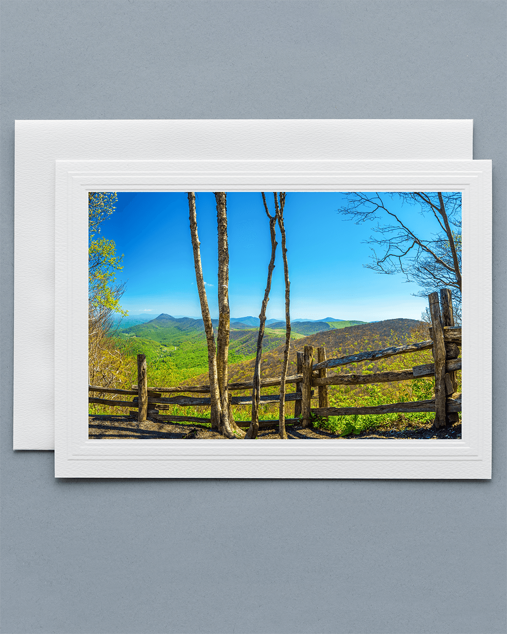 Send a lovely Greeting Card with a real photograph of Elk Knob State Park - All Greeting Cards are handmade by us in the U.S.A.