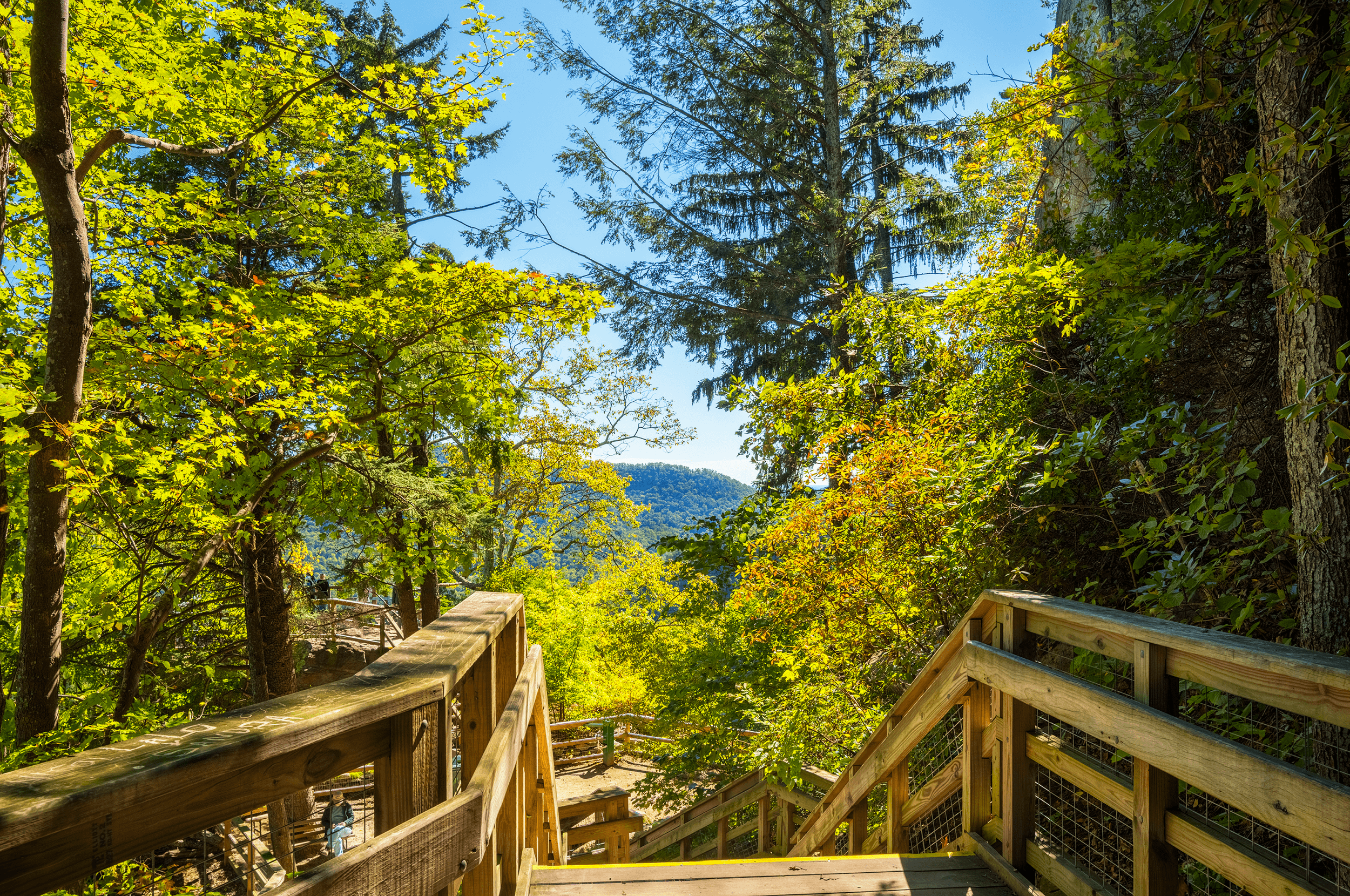 On your way down, there are many beautiful spots to savor. Below to the left is  Vista Rock .