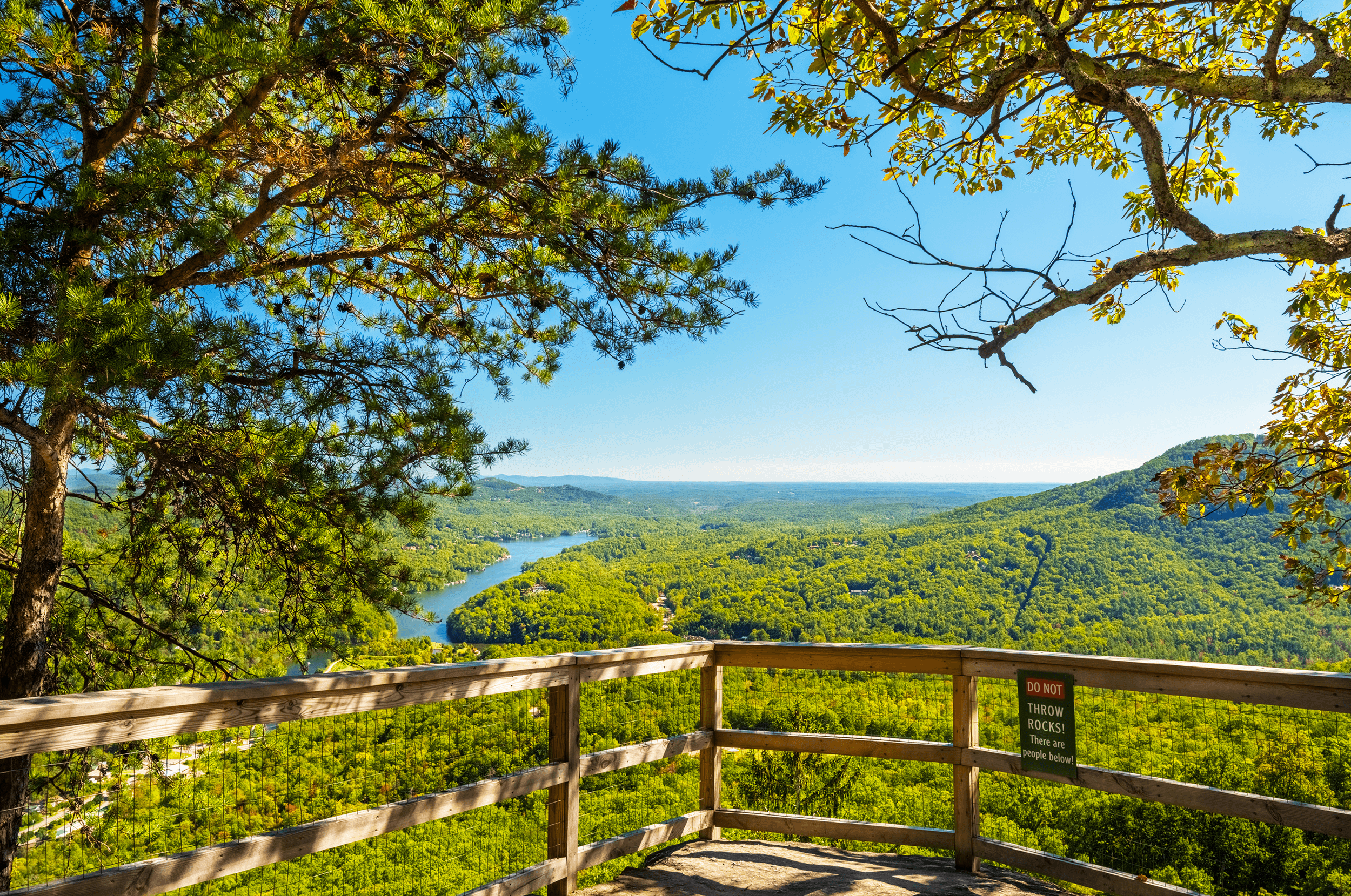 Vista Rock , located just below  Chimney Rock , offers another lovely scenic setting through its tree canopy. There are several more trails to explore throughout the park. For those, who wish to visit the park more frequently, an annual pass is also available.