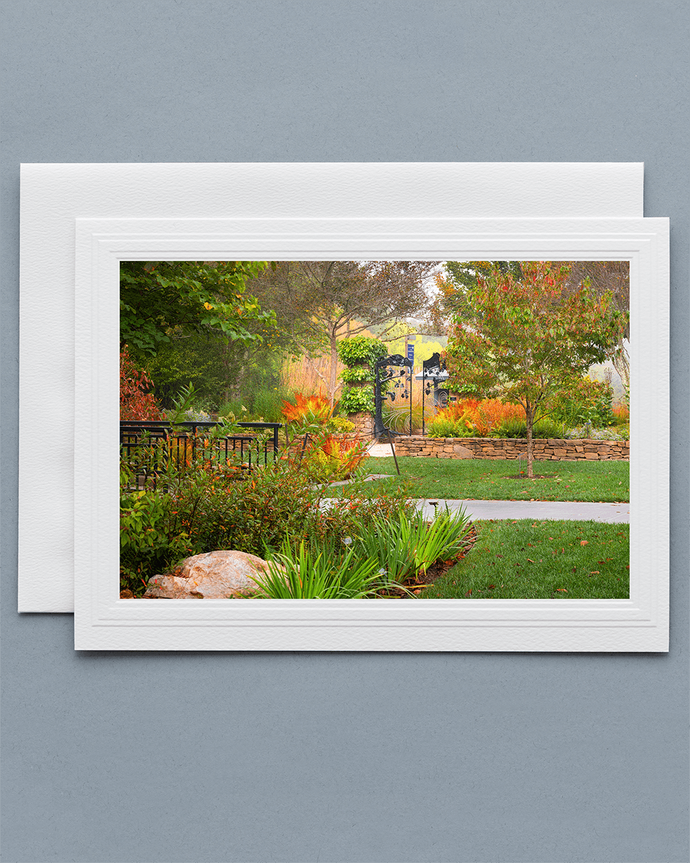 Send a lovely Greeting Card with a real photograph of the North Carolina Arboretum - All Greeting Cards are handmade by us in the U.S.A.