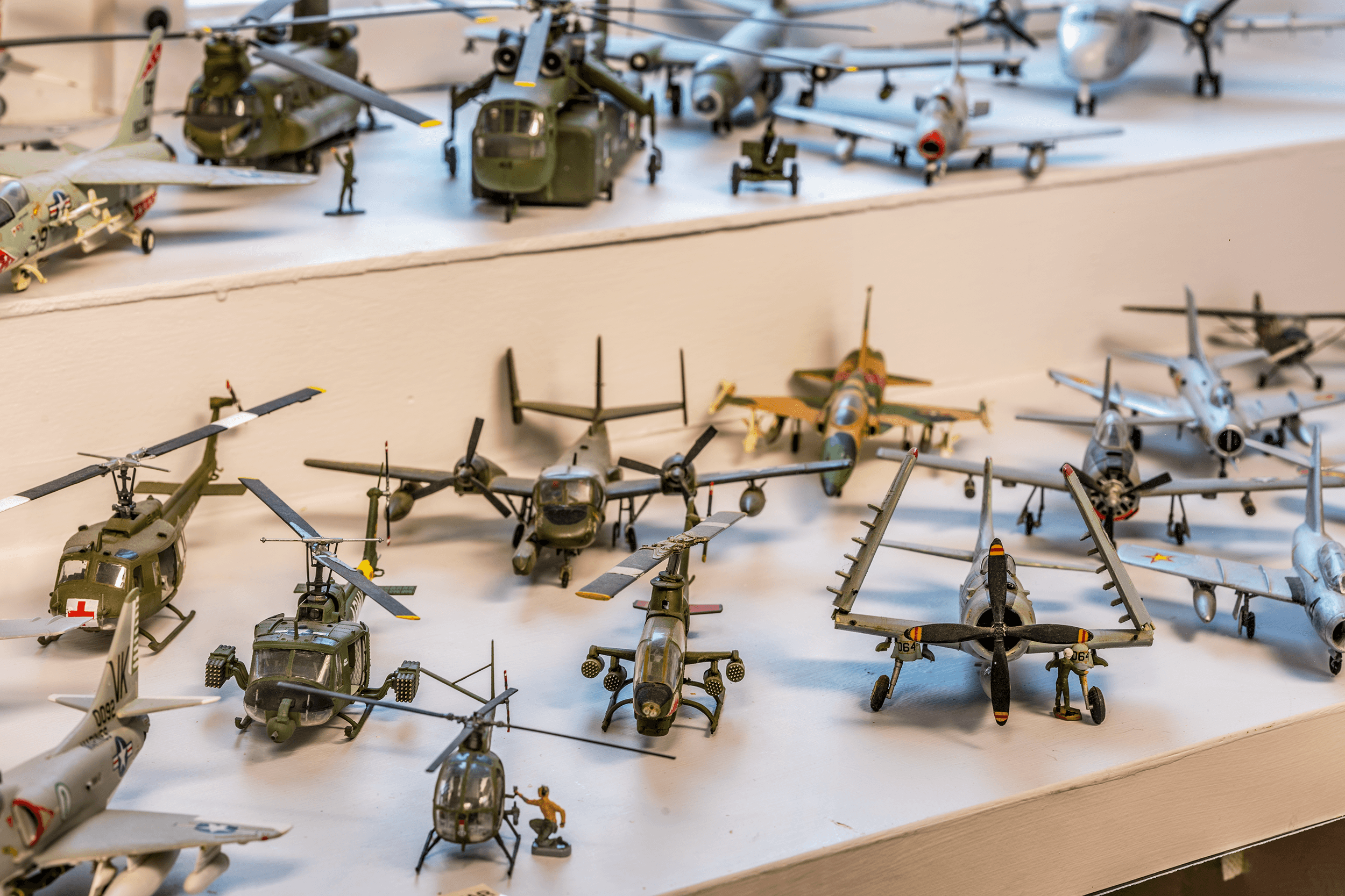 The hundreds of scale model airplanes covering a century of aviation history were built by a U.S. Air Force retiree and then donated to the museum.